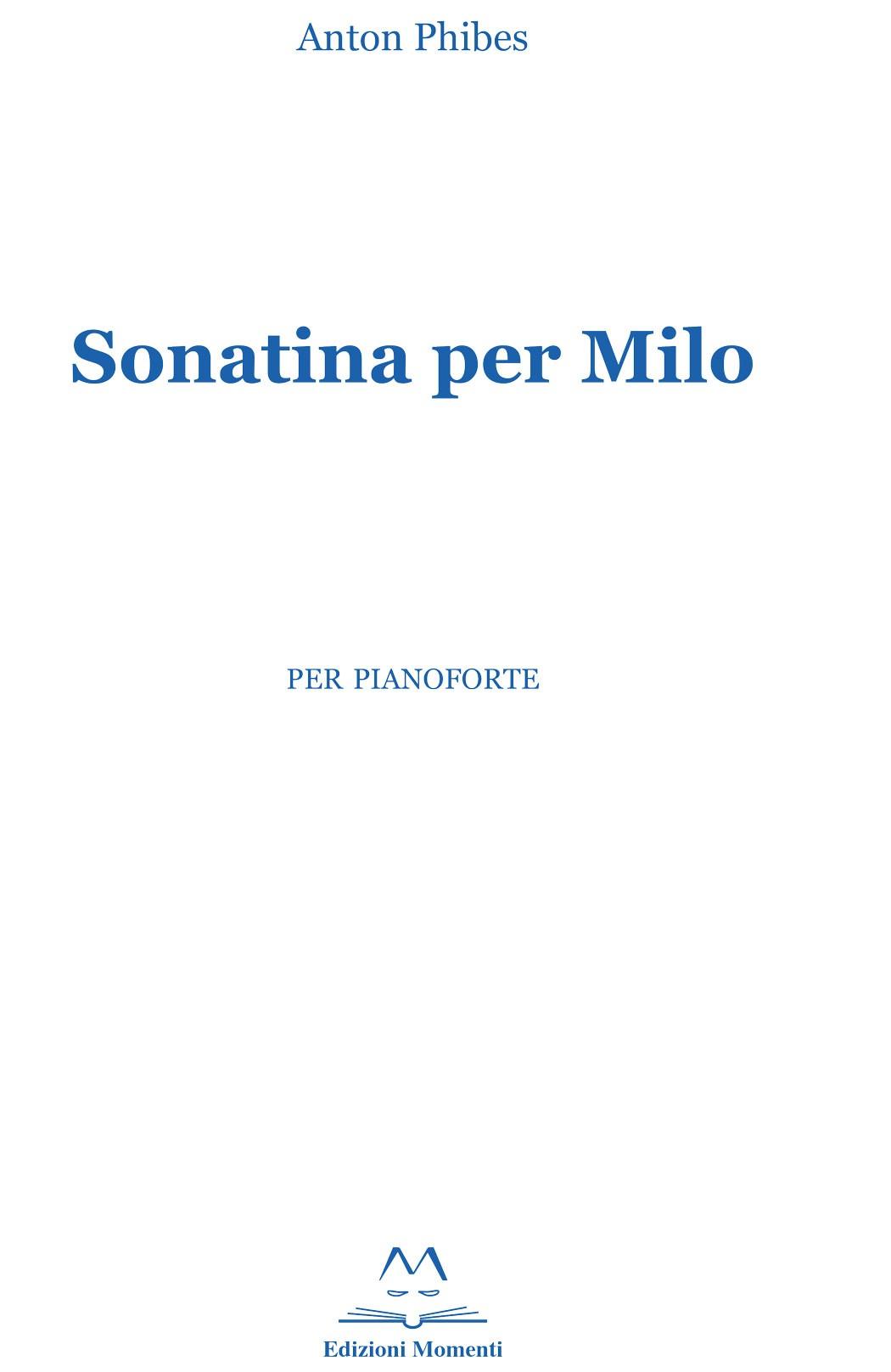 Sonatina per Milo di Anton Phibes