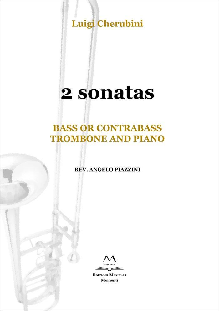 2 sonatas. Bass or contrabass trombone and piano rev. Angelo Piazzini