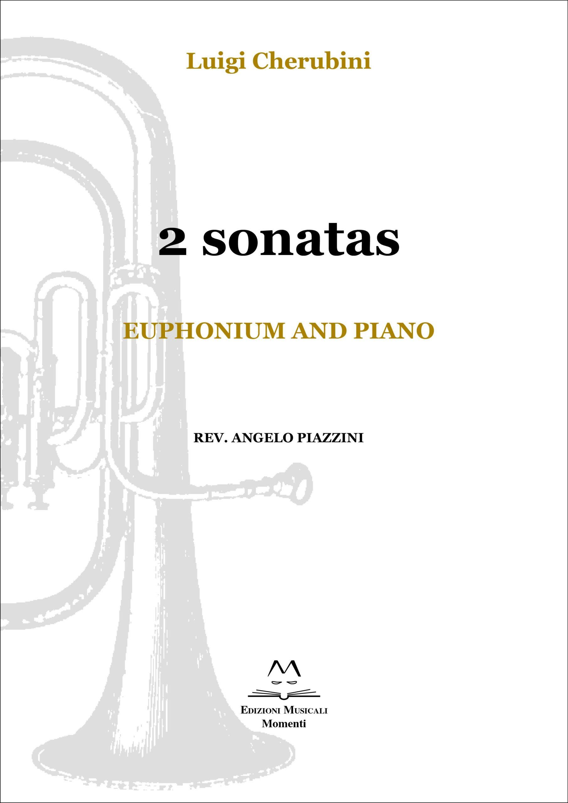 2 sonatas. Euphonium and piano rev. Angelo Piazzini