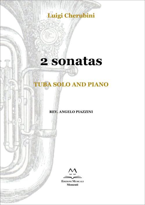 2 sonatas. Tuba solo and piano rev. Angelo Piazzini