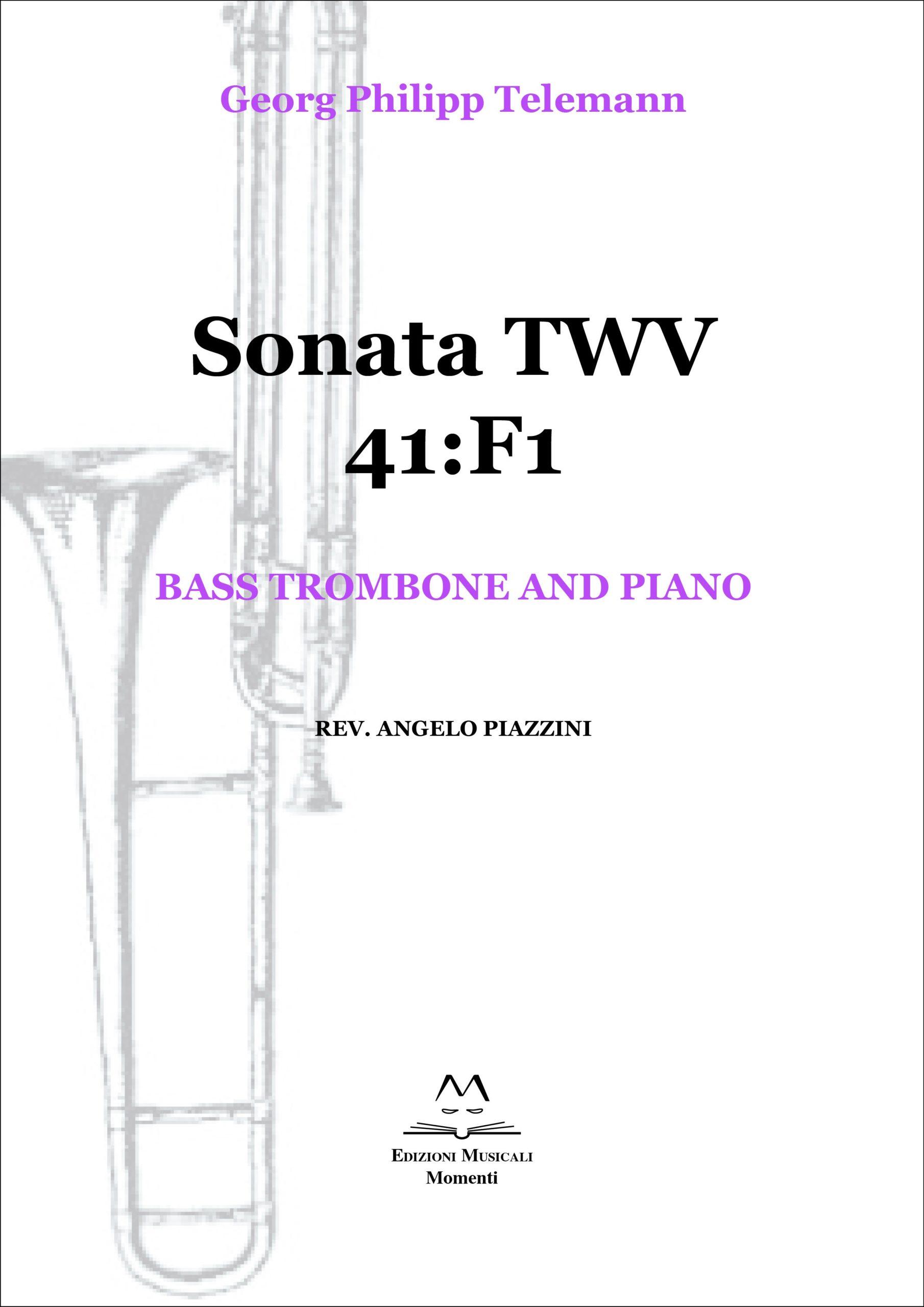 Sonata TWV 41:F1 - Bass trombone and piano rev. Angelo Piazzini