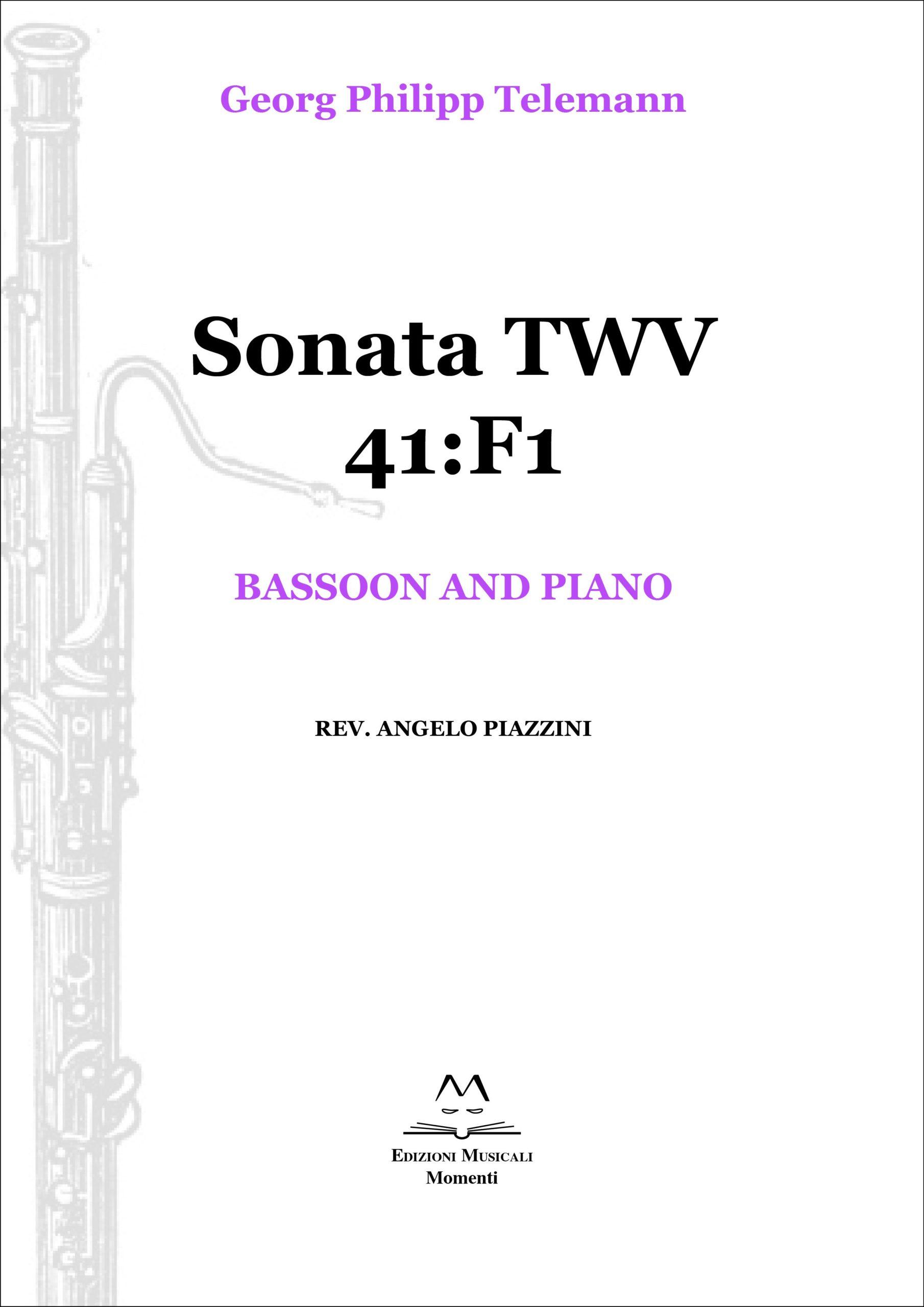Sonata TWV 41:F1 - Bassoon and piano rev. Angelo Piazzini