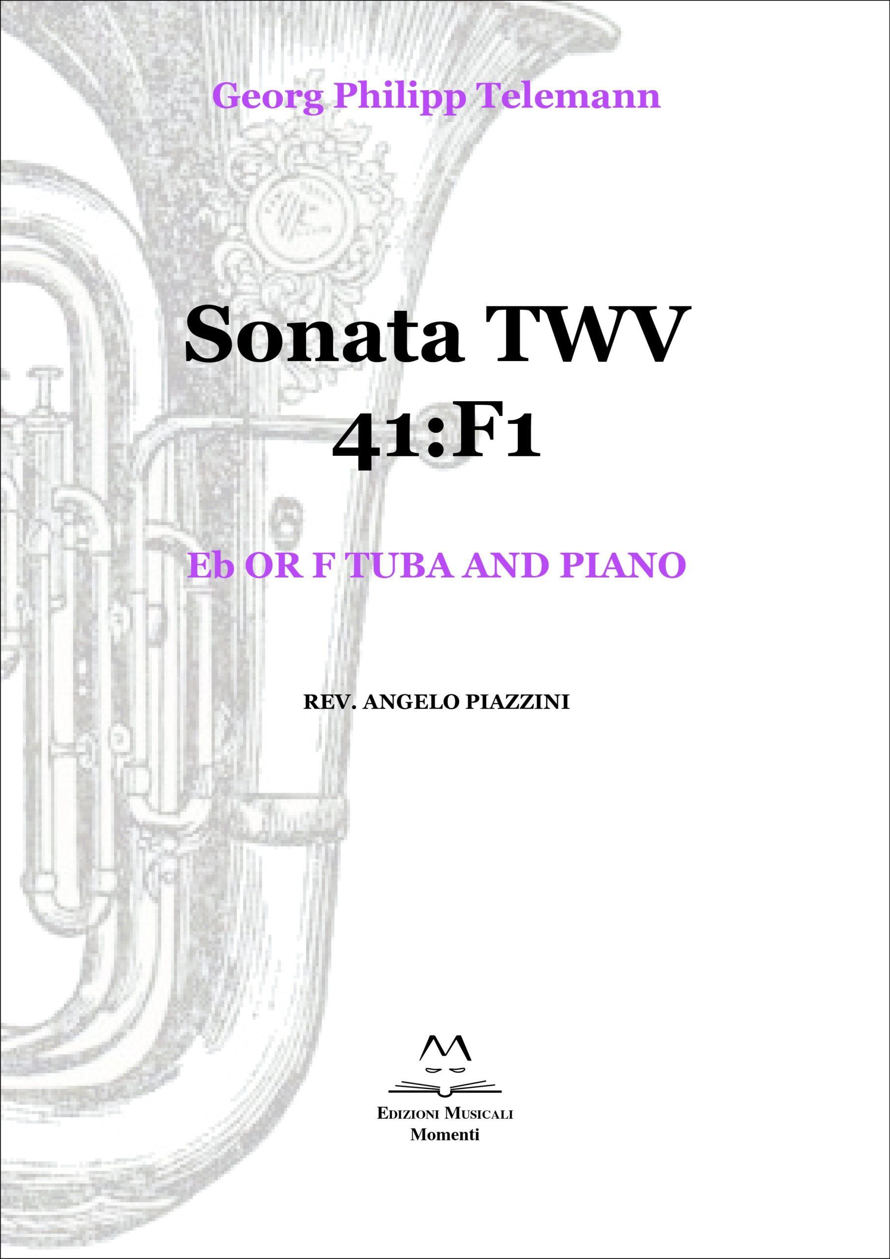Sonata TWV 41:F1 - Eb or F tuba and piano rev. Angelo Piazzini