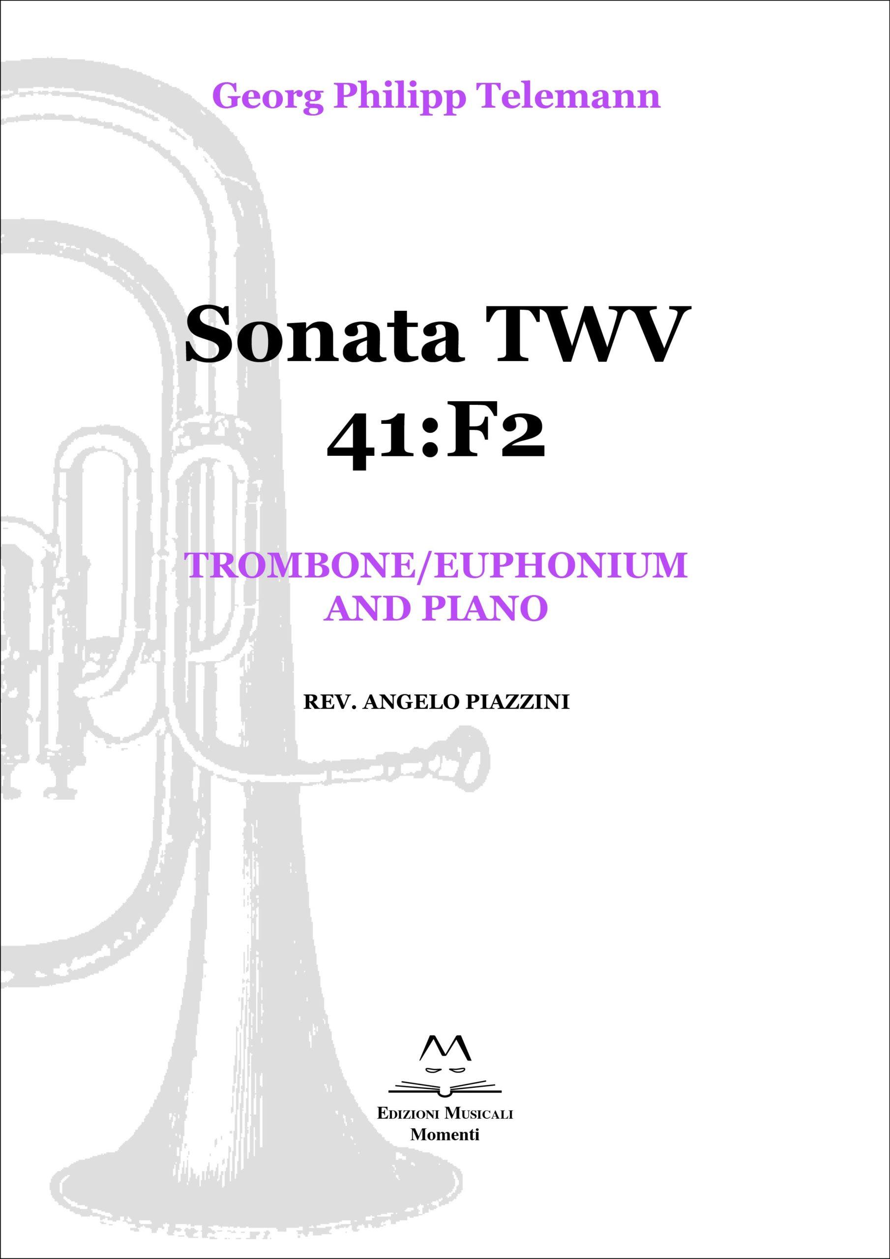Sonata TWV 41:F2 - Trombone/euphonium and piano rev. Angelo Piazzini