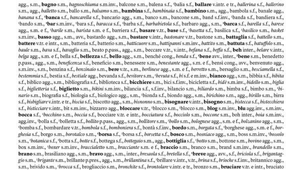 vocabolario di base